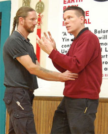 Sigung Clear explains the use of breath in one type of Fa Jing at our January Combat Tai Chi workshop